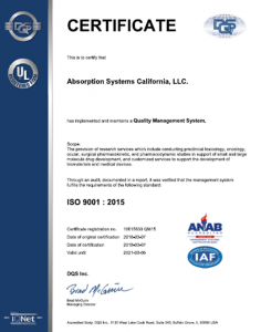Absorption Systems ISO Certification